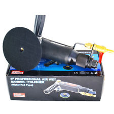 """5""""Professional Air wet sander Water-injection Pneumatic Water polisher 5500rpm"""