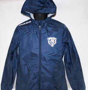 NEW Womens NFL '47 Forward Brand Chicago Bears Football Wind Breaker Jacket