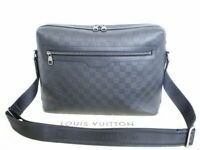 Auth LOUIS VUITTON Damier Infini Black Leather Messenger Bag Calypso GM #3872