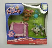 New Littlest Pet Shop Portable Pets Gift Set #20 Longhair Cat #6 Shi tzu