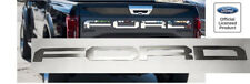 Tailgate Letter Inserts for 2017 2018 Ford F150 Raptor (Brushed Stainless Steel)