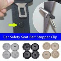 10Pairs Universal Clip Seat Belt Stopper Buckle Button Fastener Car Part- S0B2