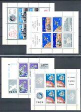 ROMANIA 9 BLOCKS / SHEETS SPACE CV € 91--** MNH -- VF