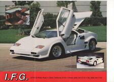 IFG 5000S Edition (Lamborghini replica, made in USA)_1997 Prospekt / Brochure