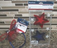 Headband Usa Red White Blue Window Clings Stars July 4th Decor Celebrate Summer