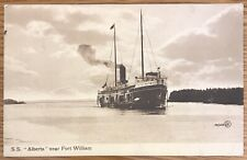 ONTARIO CANADA SS ALBERTA NEAR FORT WILLIAM STEAMSHIP POSTCARD 549