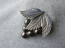 Antique big dark gray celluloid grapes cluster millinery applique jewelry making
