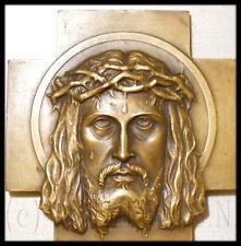 1942 RARE FRENCH ART MEDAL JESUS CHRIST ECCE HOMO RARE CROSS