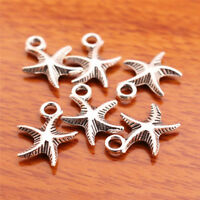 #7030# 50pcs 16mm Charms starfish pendant Diy Jewelry Bail Necklace Tibet Silver
