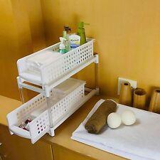 Under Sink Cabinet Sliding Basket Drawer Shelves Organizer