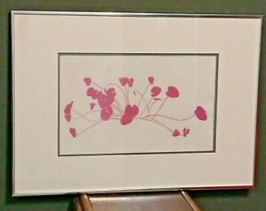 HENRY EVANS, CYCLAMEN, matted, framed, signed, numbered & dated 1969 #43 OF 76