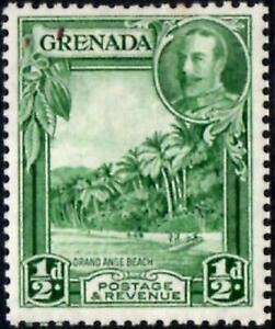 Grenada 1936 KGV  1/2d Green  Perf.12.5 x 13.5   SG.135a Mint (Hinged)