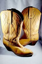 Frye Western Cowboy Boots Butterscotch Tan Brown Leather 7972 Womens Size 7.5 AA