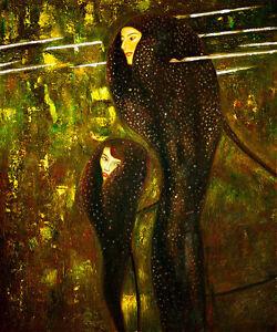 Mermaids by Gustav Klimt Huge 120cm x 100cm High Quality Canvas Print