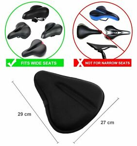 Sport Bike Gel Seat Exercise Cushion Saddle Wide Soft Pad Bicycle Cover Comfort