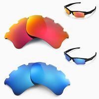 New WL Polarized Fire Red + Ice Blue Vented Lenses For Oakley Flak Jacket XLJ