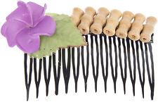 Tiki TASIA Bamboo BAMBUS Frangipani Aloha HAARKAMM Hair Comb Rockabilly