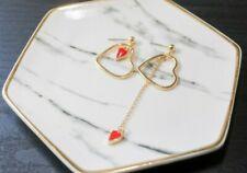 Handcrafted Elegant Trendy Korean Style Dangling Earring Heart for Women