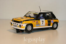Slot SCX Scalextric Renault 5 Turbo Rally Costa Brava 82 G. Barreras / G. Ortiz