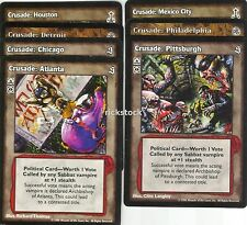 Crusade 7 Different Cities Lot A SE SW 3rd Ed VTES Jyhad