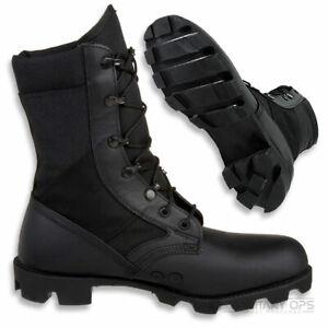 GENUINE BRITISH ARMY WELLCO BLACK JUNGLE BOOTS - SIZE UK 9M - NEW