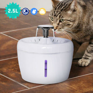Automatic Dog Water Fountain Electric Cat Drinking Dispenser & Charcoal Filter