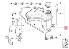 Genuine BMW E46 Coolant Reservoir Overflow Expansion Tank OEM 17112283344
