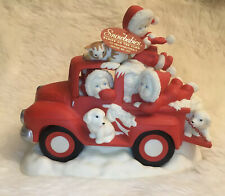 Snowbabies On The Farm To Grandmother's House We Go Christmas Department 56 Red