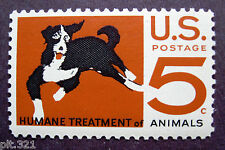 Sc # 1307  ~ 5 cent Humane Treatment of Animals Issue