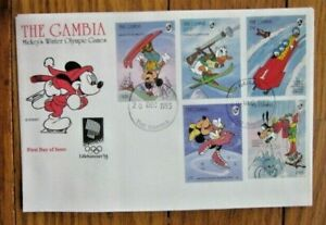 DISNEY MICKEY MOUSE WINTER OLYMPIC GAMES LILLEHAMMER 1994 SKI SKATING BOBSLED FD