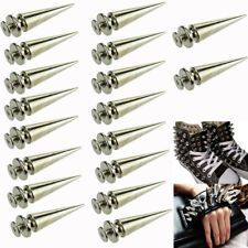 Lot 10-100 26mm Spot Cone Screw Metal Studs Leathercraft Rivet Bullet Spikes DIY