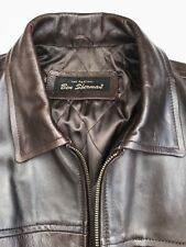 Ben Sherman Real Leather Jacket, Dark Brown, Medium, Chest 48-50, Heavy, Lined