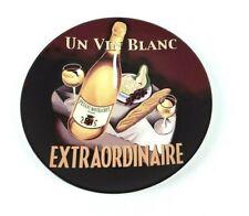 "Pottery Barn Wine Bar Un Vin Blanc Extraordinare Salad/Dessert Plate 8.25"""