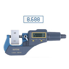 """0-1""""/0.00005"""" Outside Digital Electronic Micrometer Carbide Tool Extra Large LCD"""