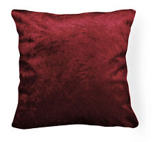 Mn119a Maroon Crushed Velvet Style Cushion Cover/Pillow Case *Custom Size*