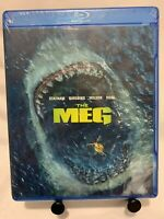 The Meg (Blu-Ray Disc, 2018) Jason Statham, Li Bingbing, Rainn Wilson NEW