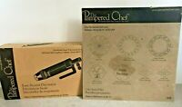 Lot of 2 Pampered Chef Easy Accent Decorator #1778 + Cake Stencil Set #1535 NICE