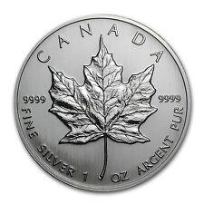 1992 1 oz Silver Canadian Maple Leaf Coin - Brilliant Uncirculated - SKU #11055