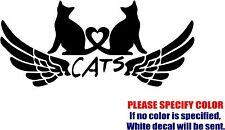 "Vinyl Decal Sticker - Cat Gadgets Wings Car Truck Bumper Window JDM Fun 12"""