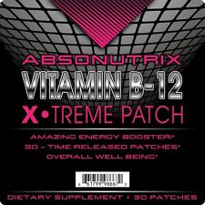 Absonutrix Vitamin B12 Energy Patch 30 Time Released Patches 1 month supply