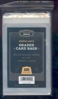 200 (2 Packs) Ultra CBG RESEALABLE GRADED CARD BAGS fits PSA BGS SGC BCCG