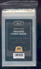 100 (1 Pack) Ultra CBG RESEALABLE GRADED CARD BAGS fits PSA BGS SGC BCCG