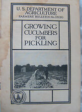 Growing cucumbers for pickling (u.s. Department of Agriculture farmers' Bulletin