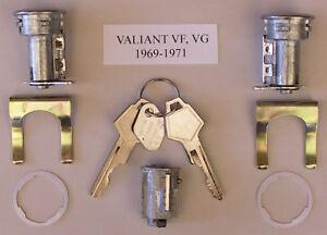 NEW IGNITION BARREL & 2 DOOR LOCKS SUIT CHRYSLER VALIANT VF VG 69-71