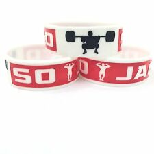 "So Jack'd 1"" Silicone Fitness Motivational Wristband (Red text)"