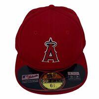 New Era Anaheim Angels MLB 59Fifty Authentic Youth Baseball Hat Cap 6 3/8 NWOT