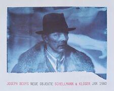 Joseph Beuys Neue Objekte Original Ausstellungsplakat Bild handsigniert 55x69cm