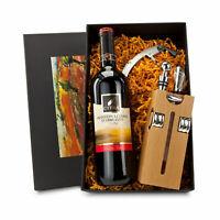 Sommelier Set mit Weinflasche, Weingeschenk, Sommelier Set Holz, Weinliebhaber