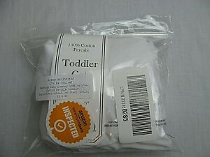 """AMERICAN BABY 100% COTTON PERCALE TODDLER COT SHEET*WHITE*23""""X40""""/ELASTIC STRAPS"""