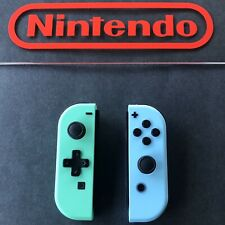 NINTENDO SWITCH JOY CON JOYCON ANIMAL CROSSING NEW HORIZON BLUE GREEN COLORS